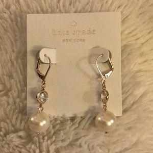 NWT ♠️ Kate Spade Pearl and Crystal drop earrings